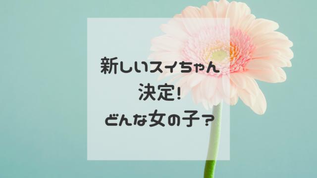 新しいスイちゃん 増田梨沙