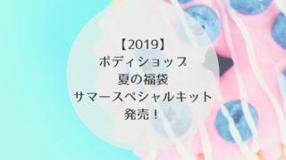 サマースペシャルキット 2019 ボディショップ