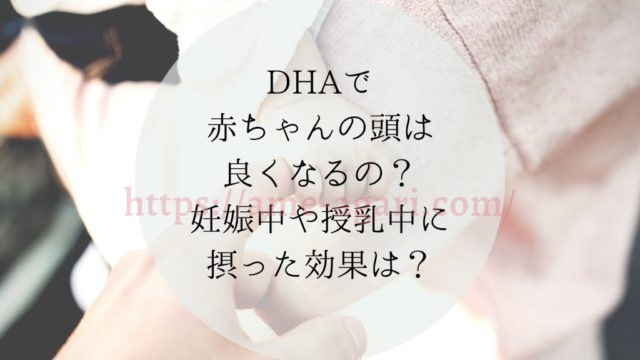 DHA 妊娠中 授乳中